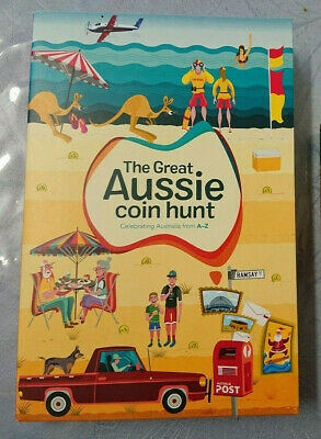 2019 The Great Aussie Coin Hunt A-Z Folder - $1 X 26 - Complete Set
