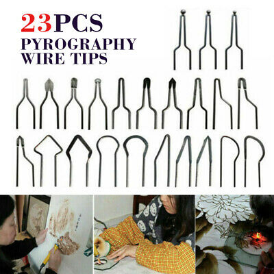23pcs 1mm Pyrography Wire Tips Nibs for 30-50W Adjustable Wood Burning Machine
