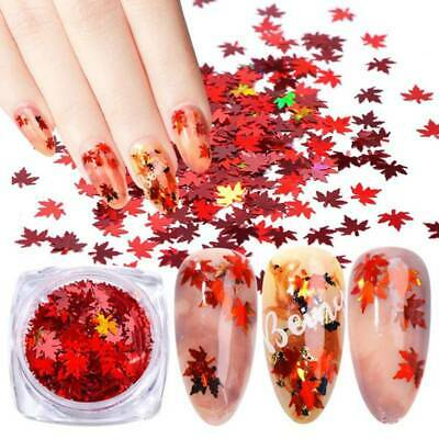 Nail Art Maple Leaf Sequins Laser Nails Glitter Thin Stickers DIY Decor Newest