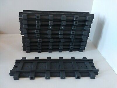 Playmobil 4386 4386 RC Train Straight Track lot of 10 G Scale Plastic.