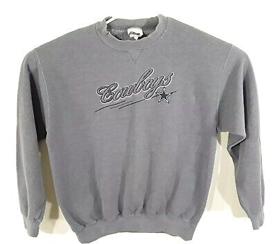 Dallas Cowboys CSA Women's Large Embroidered Crewneck Sweatshirt Gray NFL