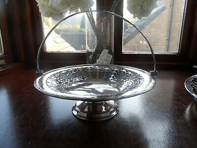 Antique Mappin & Webb Silver Plated Basket c-1910 No Reserve