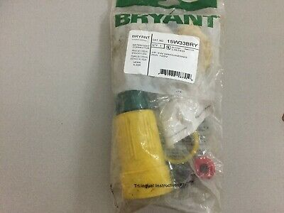 Bryant 15W33Bry 20 Amp 125 Volt 3 Wire Receptacle