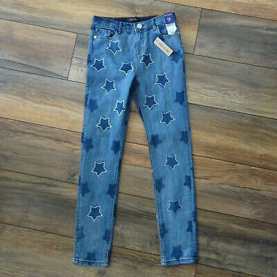 NEW River Island Girls Age 10 11 12 Amelie Skinny Jeans Trousers Diamante Stars