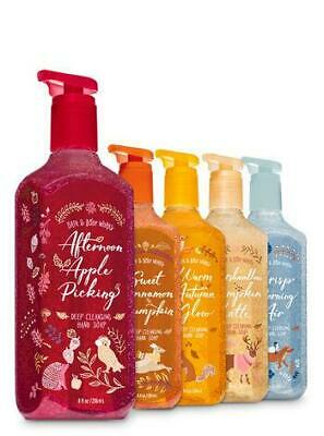 Bath & Body Works Set of 5 Fall Traditions Deep Cleansing Hand Soap *WOW*