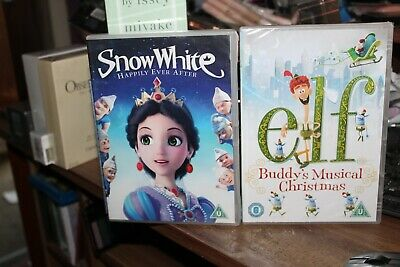 elf.buddy's muscial christmas /free gift snow white b/n sealed