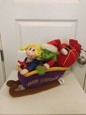 How the Grinch Stole Christmas Grinch Sleigh Beverly Hills Teddy Bear Co. 2000