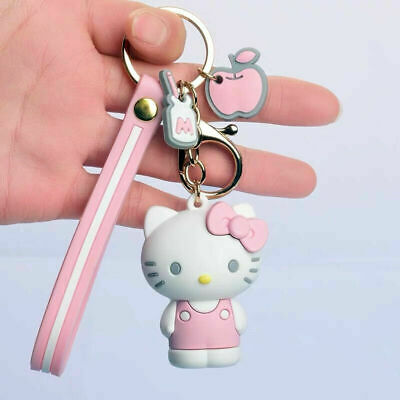 NEW HELLO KITTY KEYCHAIN Cute Cartoon Key Ring Purse Charm Party Favors