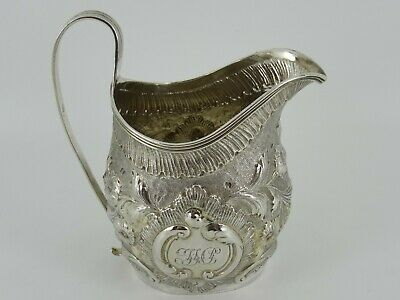 Beautiful Antique Solid Sterling Silver Georgian Cream Jug London 1802 107G