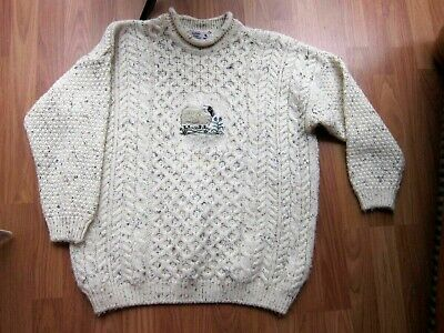Highland Home Industries Knit Wool Sweater Scotland~Women's Large~Fuzzy sheep