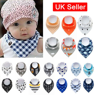 4 Pack Baby Dribble Bibs Bandana Bibs Girls Boy Cotton Bundle Feeding Triangle