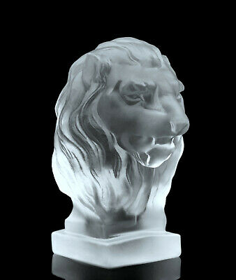 Art Deco Glass Car Mascot ' Lion ' Hood Ornament Figurine Sculpture H.Hoffmann