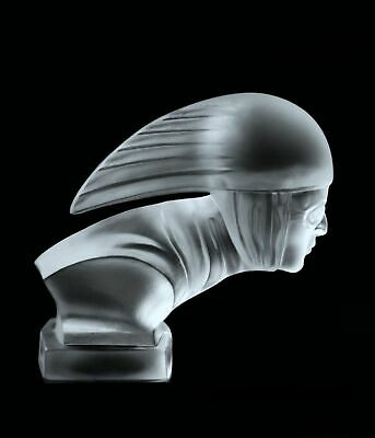 Art Deco Glass Car Mascot Figurine RACER Hood Ornament 1930's Hoffmann