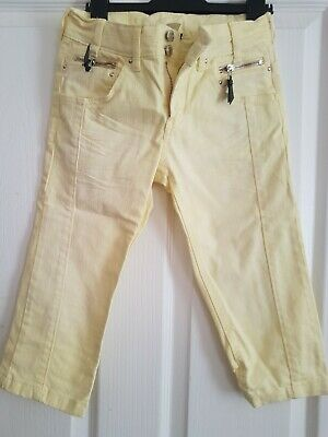 H&M Girls Yellow Capri Trousers 11 Years