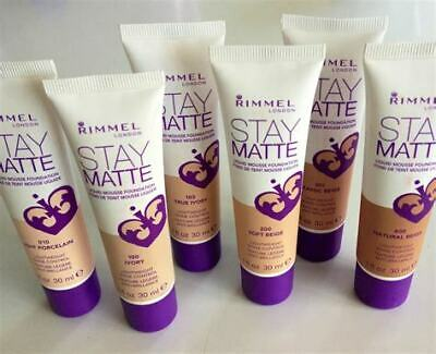 RIMMEL LONDON Stay Matte LIQUID MOUSSE FOUNDATION 30ml  **CHOOSE YOUR SHADE**