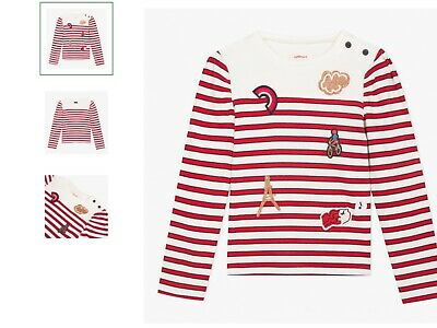 Girls top t shirt (nautical) catimini