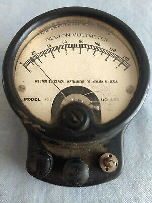 WESTON Voltmeter Model 489 No. 853 Gauge Electrical Instrument