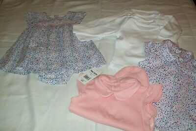 Baby girls Mothercare dress new with tag with matching bodysuits aged newborn/1m