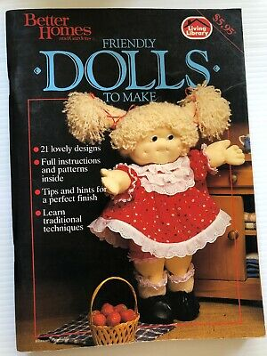 Better Homes And Gardens Friendly Dolls To Make Craft Sewing Pattern Book