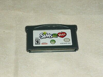Sims 2 Pets (Nintendo Gameboy Advance) Ntsc Cartride Only