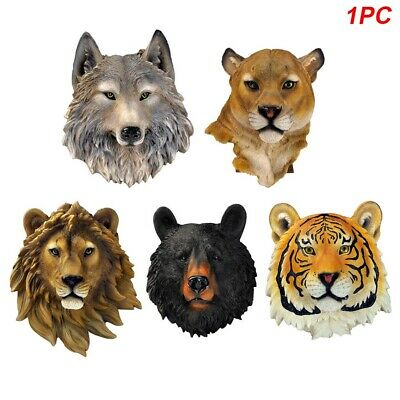 Wall Ornament Home Mounted Animal Head 3D Hanging Art Restaurant Synthetic Resin