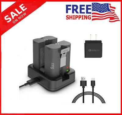 Dual Port Charging Station for Ring Rechargeable Batteries for Video Doorbell