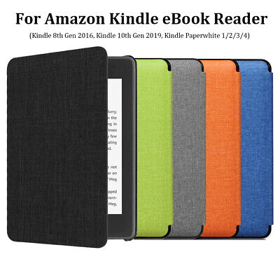 "For Amazon Kindle Paperwhite 10th Gen 2019 6"" e-Reader Leather Smart Case Cover'"