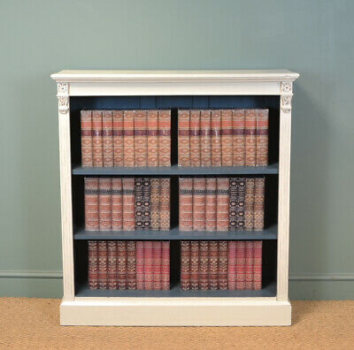 Quality Victorian Painted Antique Open Bookcase