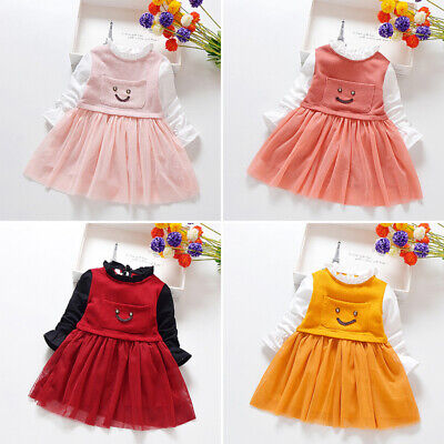 Kids Girls dress Children Toddlers Party Autumn Girls dress Cotton Princes