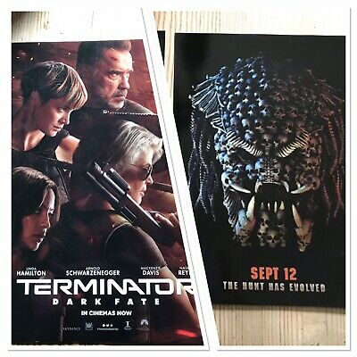 Official Odeon Exclusives Terminator Dark Fate / PREDATOR A4 Posters, Free Post