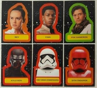 2019 Star Wars Journey to Rise of Skywalker CHARACTER STICKERS Trading Card Set