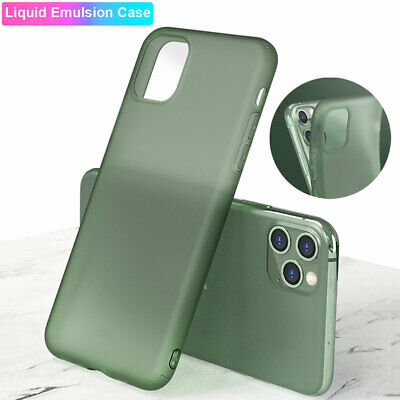Slim Shockproof Liquid Case for iPhone 11 Pro Max X XS XR 8 Hybrid Rubber Cover