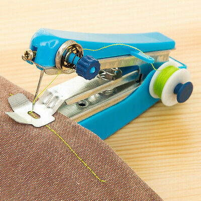 Portable Mini Hand-Held Needlework Cordless Clothes DIY Fabrics Sewing Machine