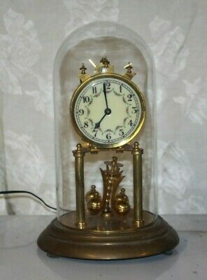 Vintage Forestville German Brass Anniversary Clock for Parts Not Working #3
