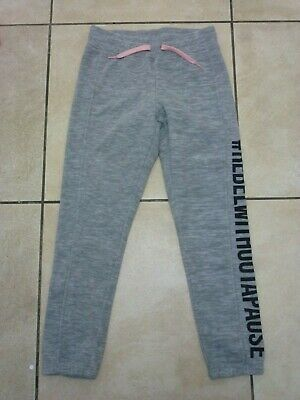 H&M Girls Kids Fleece Rebel Without A Pause Joggers 9-10 Years BNWT £12.98 Grey