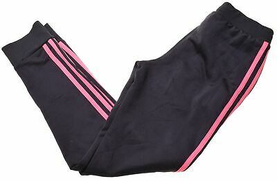 ADIDAS Girls Tracksuit Trousers 11-12 Years Black Polyester  DL08
