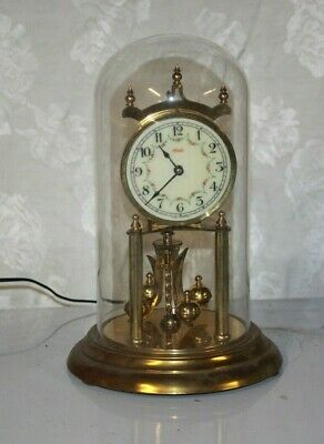 Vintage KUNDO German Brass Anniversary Clock for Parts Not Working #4