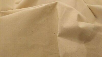 """100%Pure Cotton Lining Calico NATURAL Beige HEAVY Fabric Extra Wide 101""""(258cm)"""