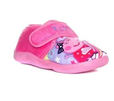 New Girls Girls Peppa Pig Slippers Unicorn Pink Size UK 10 EUR 28