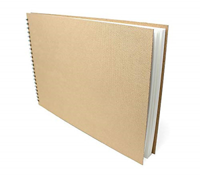 Artway Enviro Recycled Wirobound A3 Sketchbook in Landscape Format. 70 sides of