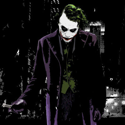 Batman Joker Oil Painting Hand-Painted DC Comics Art Canvas Halloween Art Decor