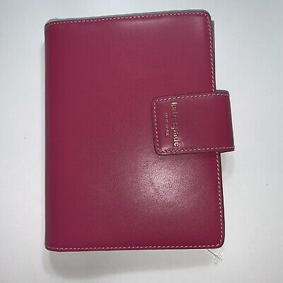 NWT auth KATE SPADE NEW YORK hot pink / red LEATHER Elyce photo album BRAG BOOK