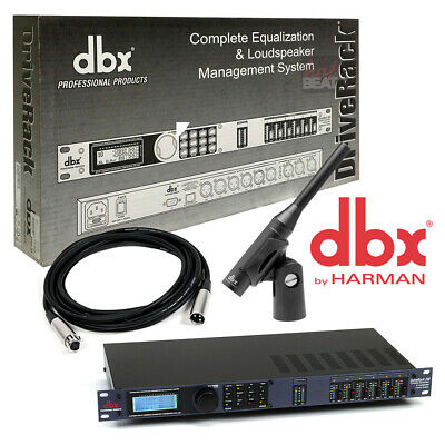dbx Drive Rack 260 with RTA-M Measurement Microphone + 25 ft XLR Cable