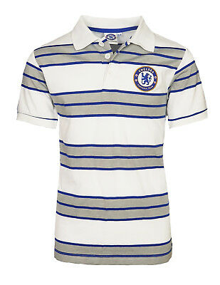 Chelsea FC Striped Football Polo Shirt Kids 4 5 Years T Official Gift CP2
