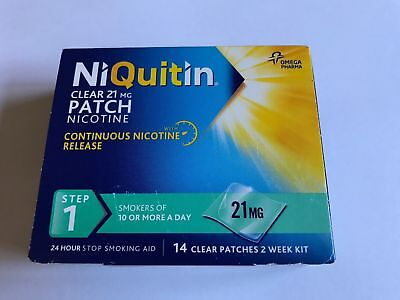 NIQUITIN CLEAR 21mg Patch - Step 1 X 140 Patches (10 Boxes) - FREE SHIPPING
