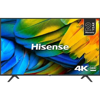 "Hisense H50B7100 50"" 4K Ultra HD Smart HDR LED TV with Freeview Play H50B7100UK"