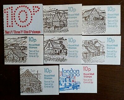 10p FOLDED BOOKLETS, 1976-79 (FA1 to FA11) Individually priced. Free postage.
