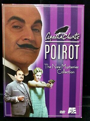 Used Agatha Christie  Poirot New Mysteries Collection - 4 DVD Set Lot M28-BB