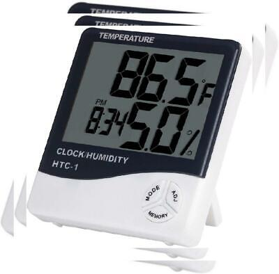 Anpro Digital Indoor Temperature and Humidity Meter with Black White