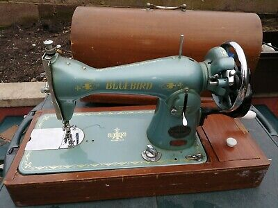 Bluebird DeLuxe Hand Crank Industrial Sewing Machine And Case